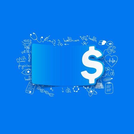 stack of cash: Dibujo f�rmulas m�dicas: el dinero