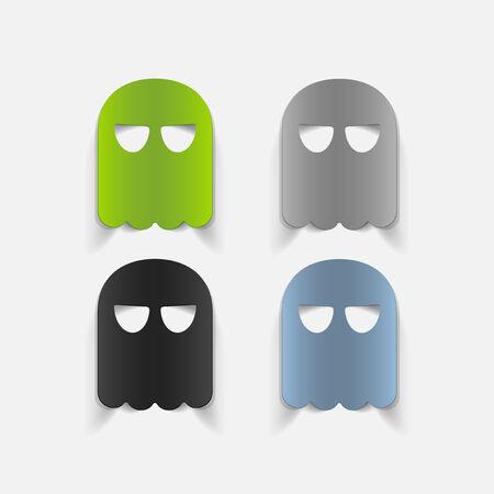 realistic design element: ghost Vector