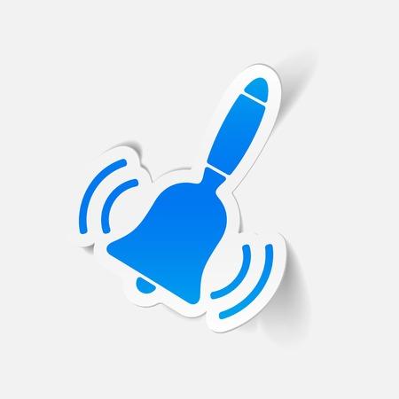 handbell: realistic design element: bell