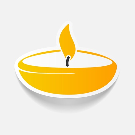 an oil lamp: realista elemento de diseño: lámpara Vectores