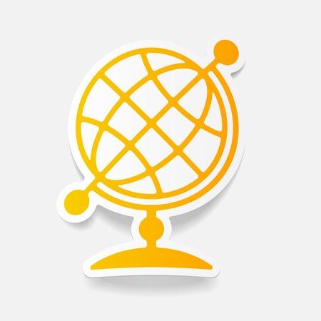 revolves: realistic design element: globe Illustration