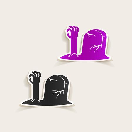 realistic design element: tombstone Vector