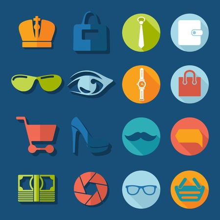 Set of fashion icons Vector
