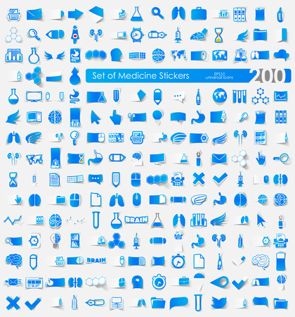 Set of Medicine stickers Vector