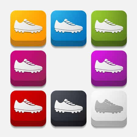 square button: sneakers