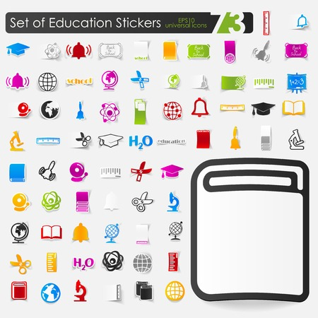 successful student: Set of education icons Illustration