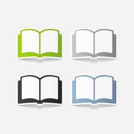 libros: realista elemento de dise�o: Libro