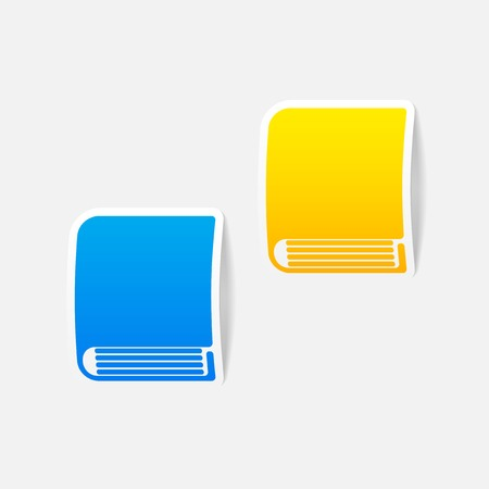 realistic design element: book Vector