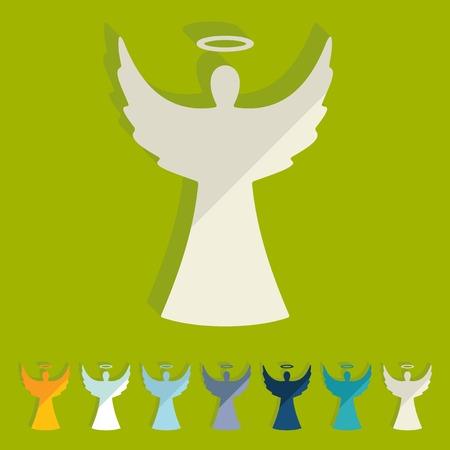 guardian angel: Diseño plano: angel Vectores