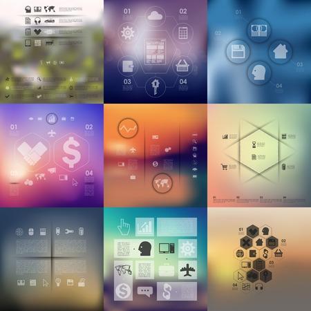 технология: бизнес инфографики с несфокусированного фоне