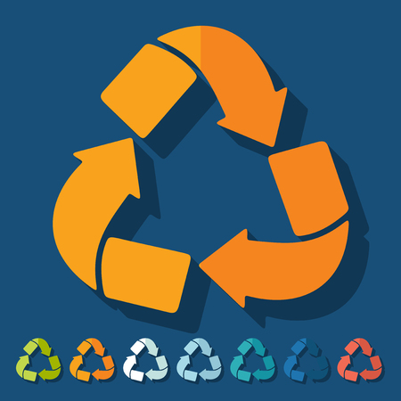 ecologist: Flat design: recycle sign Illustration