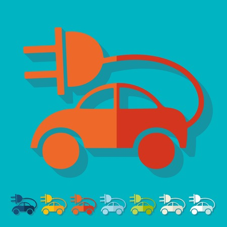 eco car: Platte ontwerp: eco auto