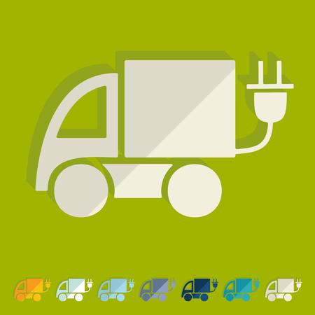 eco car: Flat design: eco car Stock Illustratie