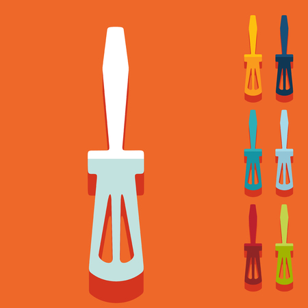 unscrew: Flat design: screwdriver