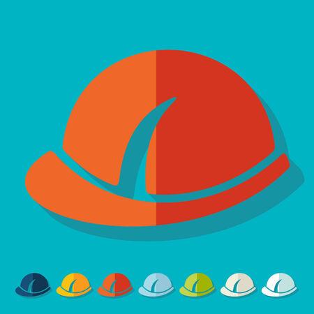 Flat design: helmet Vector