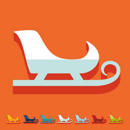 skids: Flat design: sledge