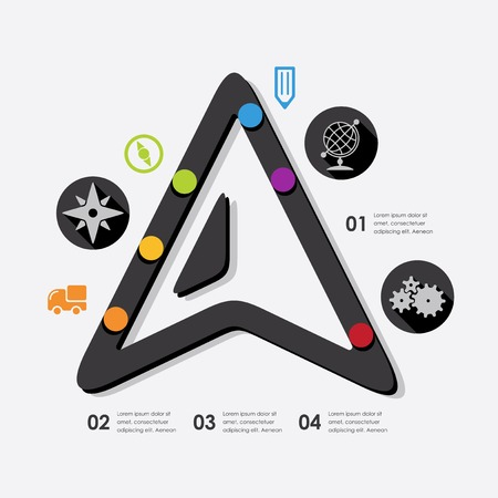 navigation infographic Vector