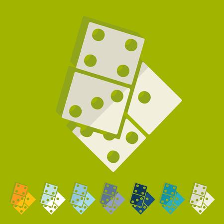 domino: Flat design: domino Illustration