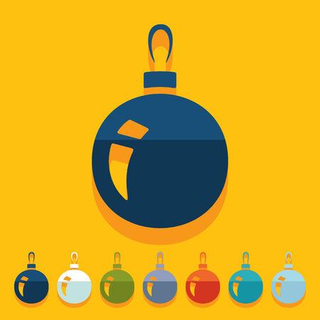 크리스마스 공: Flat design: christmas ball