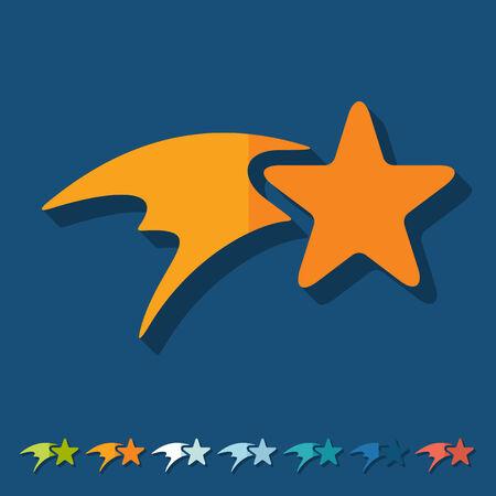 christmas star: Design piatto: stella di Natale Vettoriali