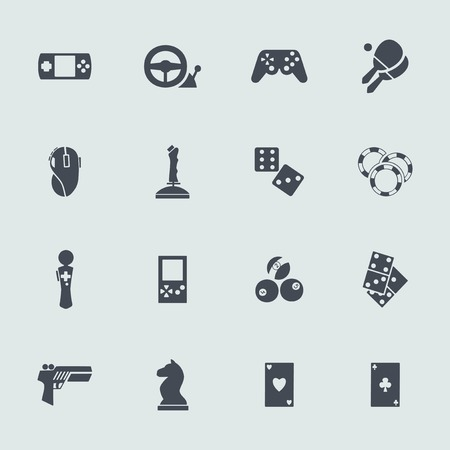console table: Set of icons