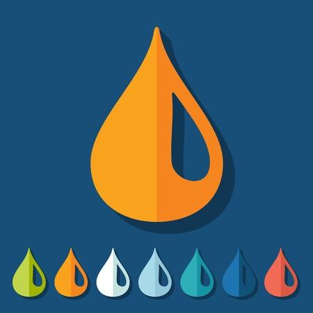drinking water sign: Flat design: water