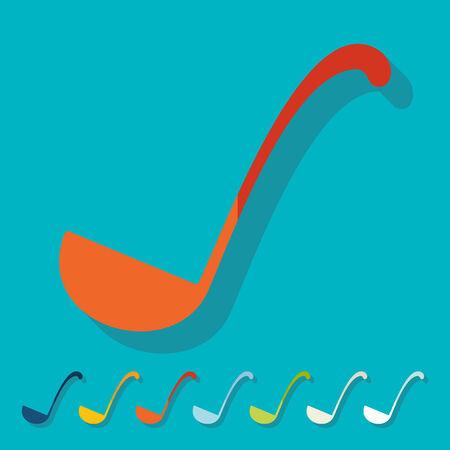 ladle: Flat design: ladle