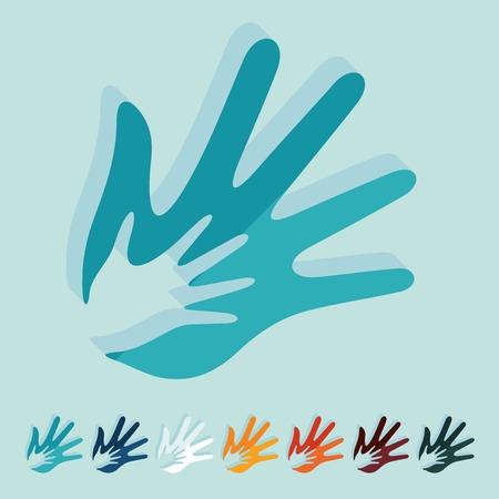 conjugal: Flat design: hand