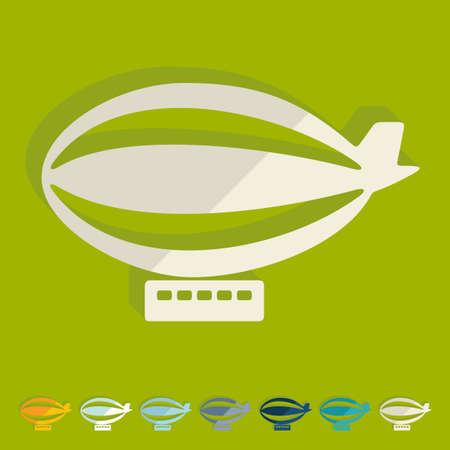 Flat design: airship Vector