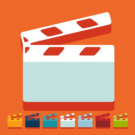 Flat design: clapper cinema Vector