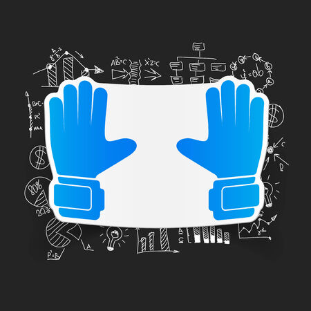 leather goods: Drawing business formulas: gloves