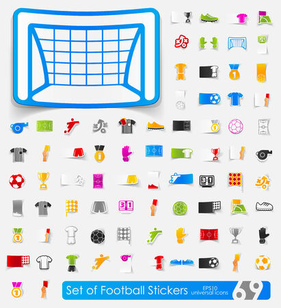 showground: Set of football stickers