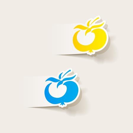 realistic design element: tomato Vector