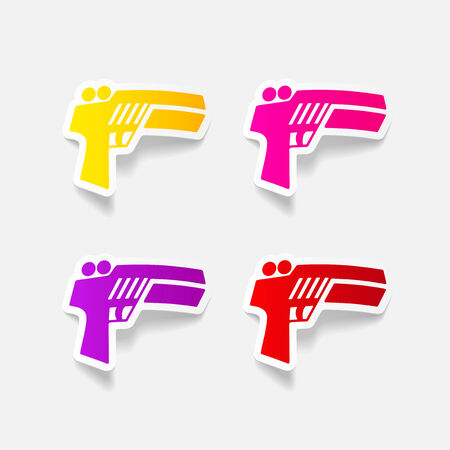 realistic design element: gun game Vector