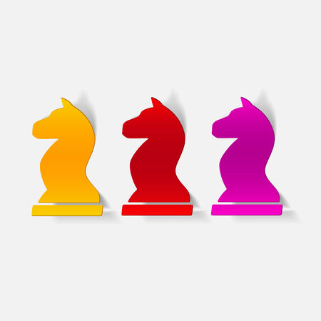 realistic design element: chess Vector
