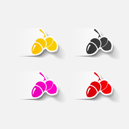 realistic design element: acorns Vector