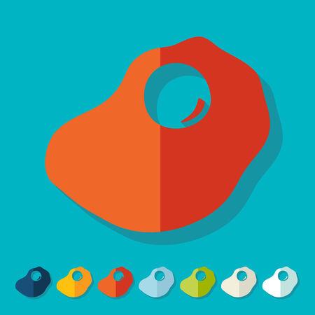 hearty: Flat design: scrambled Illustration