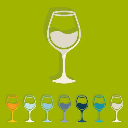sourness: Flat design: wineglass