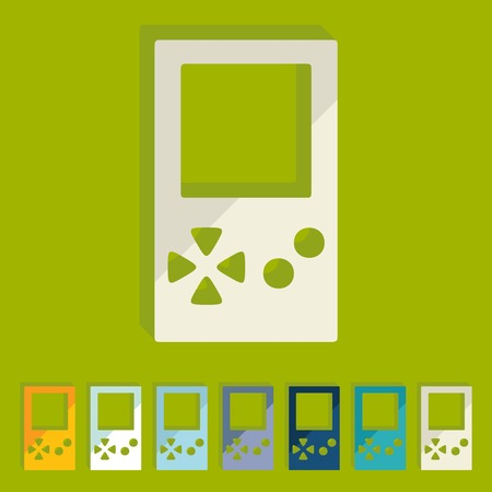 Flat design: video game Vector