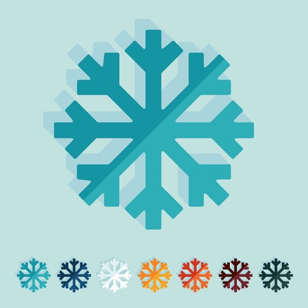 Flat design: snowflake Vector
