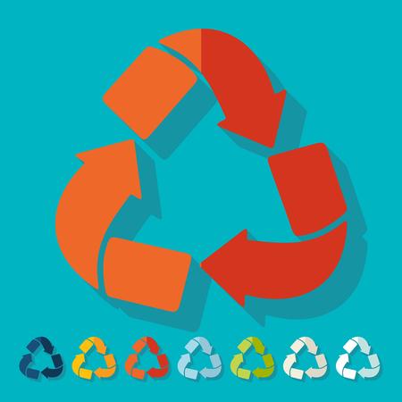 ecological adaptation: Flat design: recycle sign Illustration