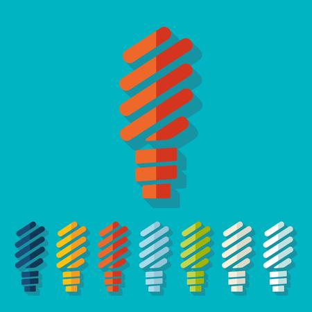 ecological adaptation: Flat design: fluorescent light bulb Illustration