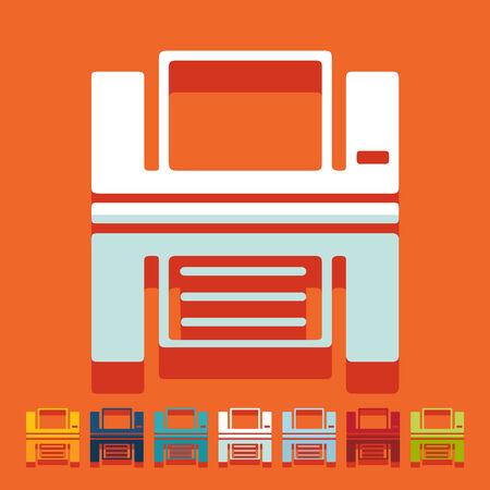 printed machine: Flat design: printer