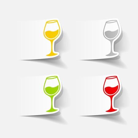 sourness: realistic design element: wineglass