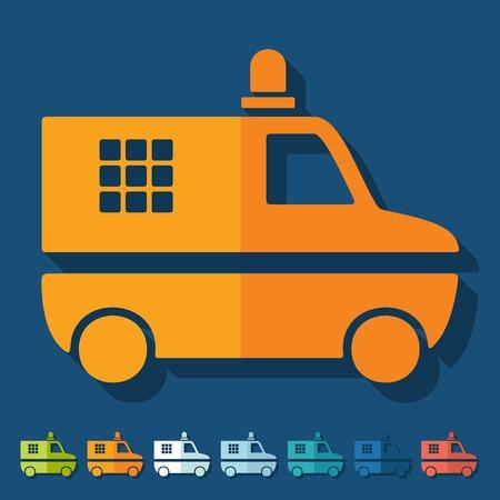 Flat design: police car Vector