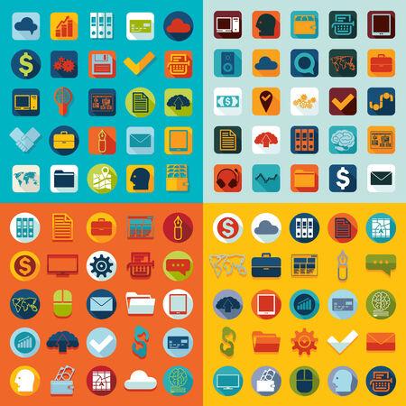 Conjunto de iconos planos de negocio Foto de archivo - 33385769