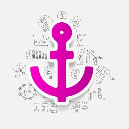 Drawing business formulas: anchor Vector