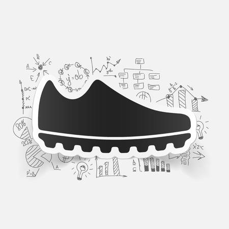 Drawing business formulas: sneakers Vector