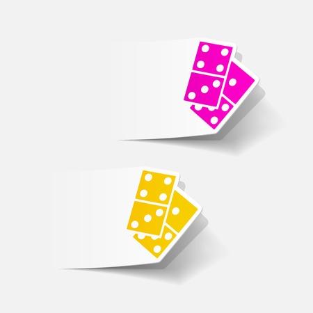 domino: realistic design element: domino Illustration