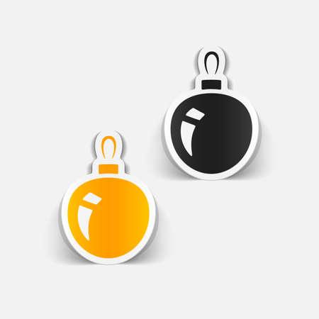 크리스마스 공: realistic design element: christmas ball